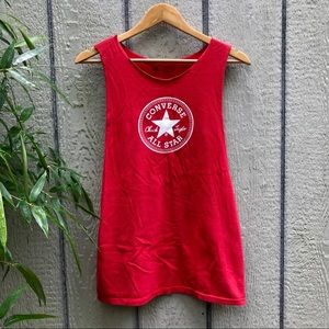 Converse full patch cut out muscle tank